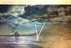 Dambuster World War Two Print depicting 617 Sqdn during