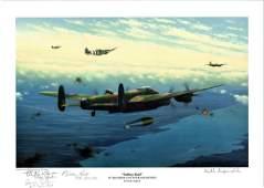 World War Two Print 12x16 titled Tallboy Raid by the