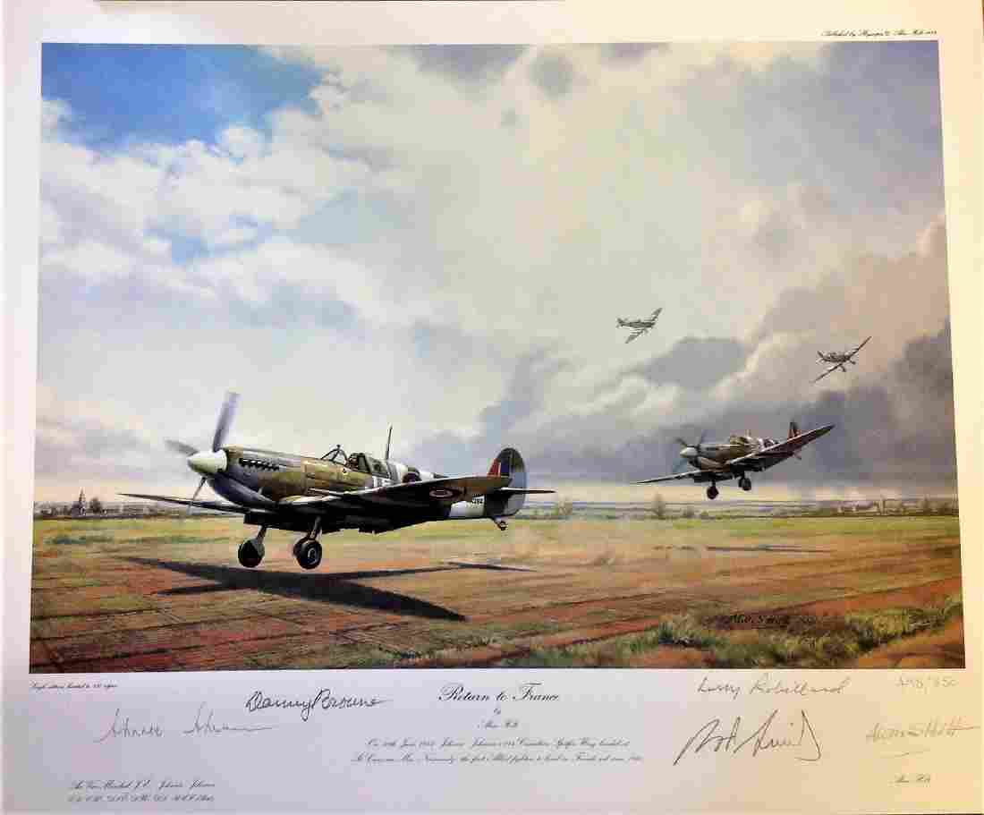 World War two print approx 22x17 titled Return to