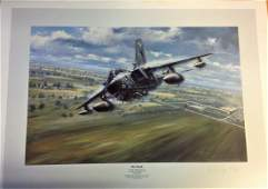 Raf Aviation print approx 29x21 titled On Track signed