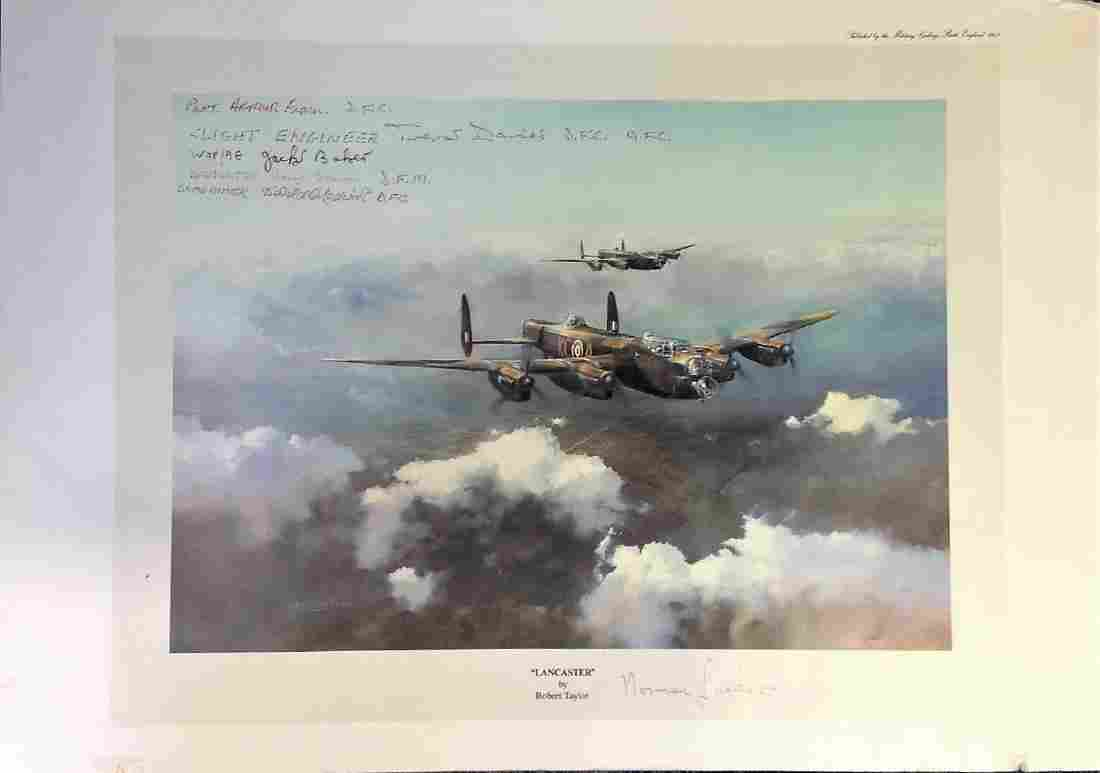"""World War Two print approx 12x18 titled """"""""LANCASTER"""""""""""