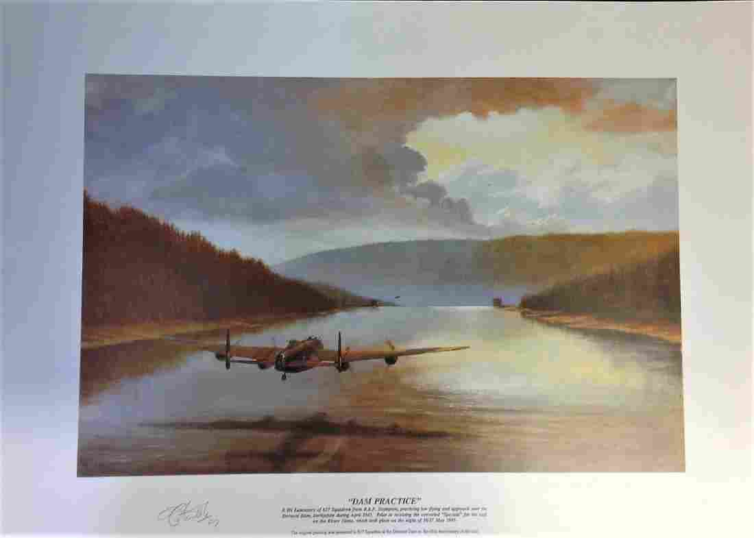 "Dambuster World War Two print 16x22 title """"DAM"