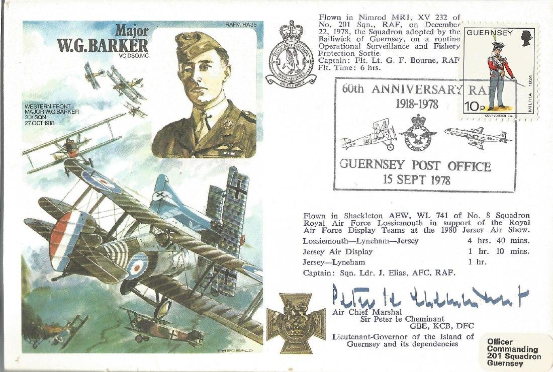 Raf Flown cover dedicated to Major W. G. Barker VC.