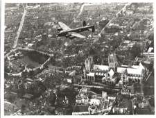 World War Two 7x9 vintage b/w photo picturing a Avro