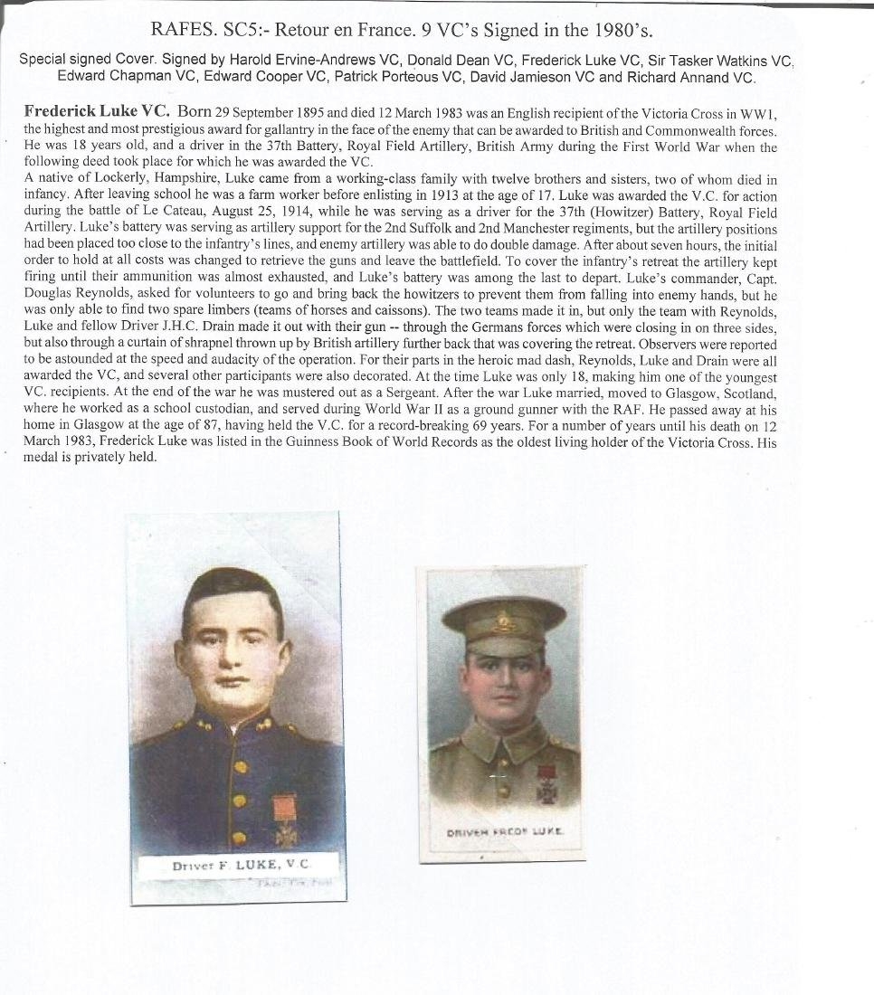 RARE Multi Victoria Cross winners, WW2 & WW1 only 12 - 8