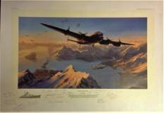 World War Two 19x27 titled Sinking the Tirpitz by the