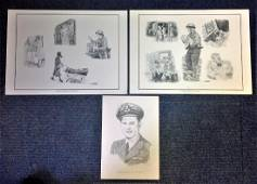 World War Two collection pencil drawings includes 12x8