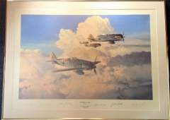 World War Two 24x33 framed and mounted print titled