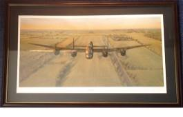 World War Two 21x35 framed and mounted print titled