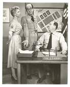 Phil Silvers signed 10 x 8 b/w photo as Sgt Bilko in