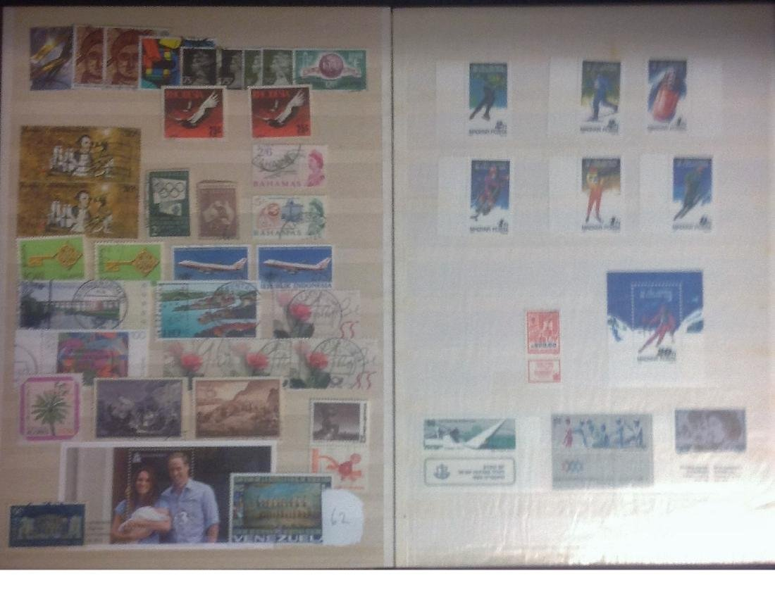Worldwide stamp collection stored in red stockbook 22 - 2