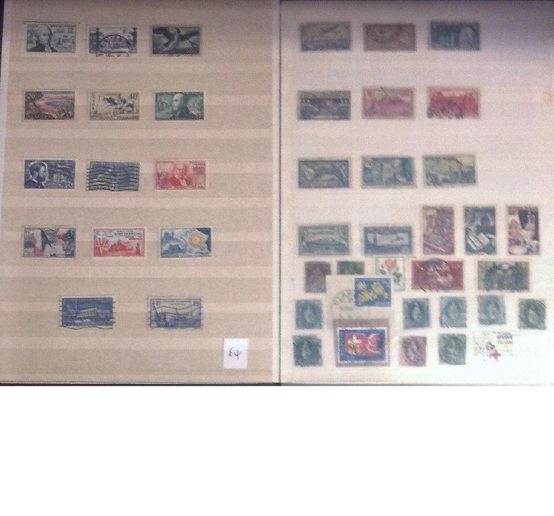 Worldwide stamp collection stored in red stockbook 22 - 3