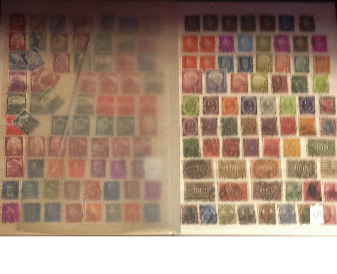Worldwide stamp collection stored in red stockbook 22 - 4