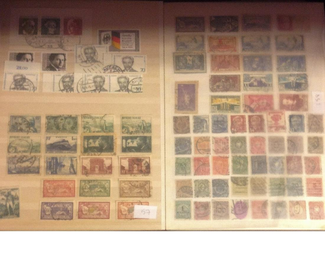 Worldwide stamp collection stored in red stockbook 22 - 5