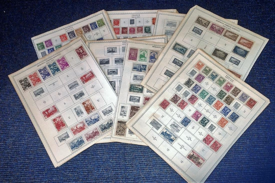 World Stamp collection 39 sheets dating pre 1960 from