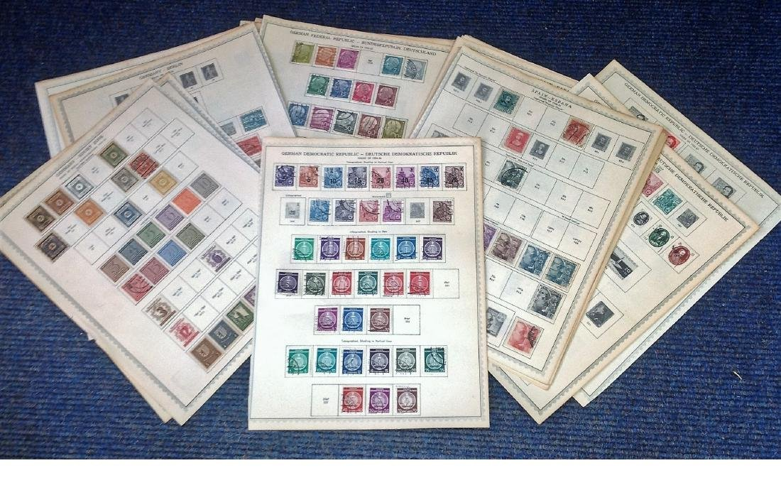 European stamp collection 31 sheets dating pre 1960