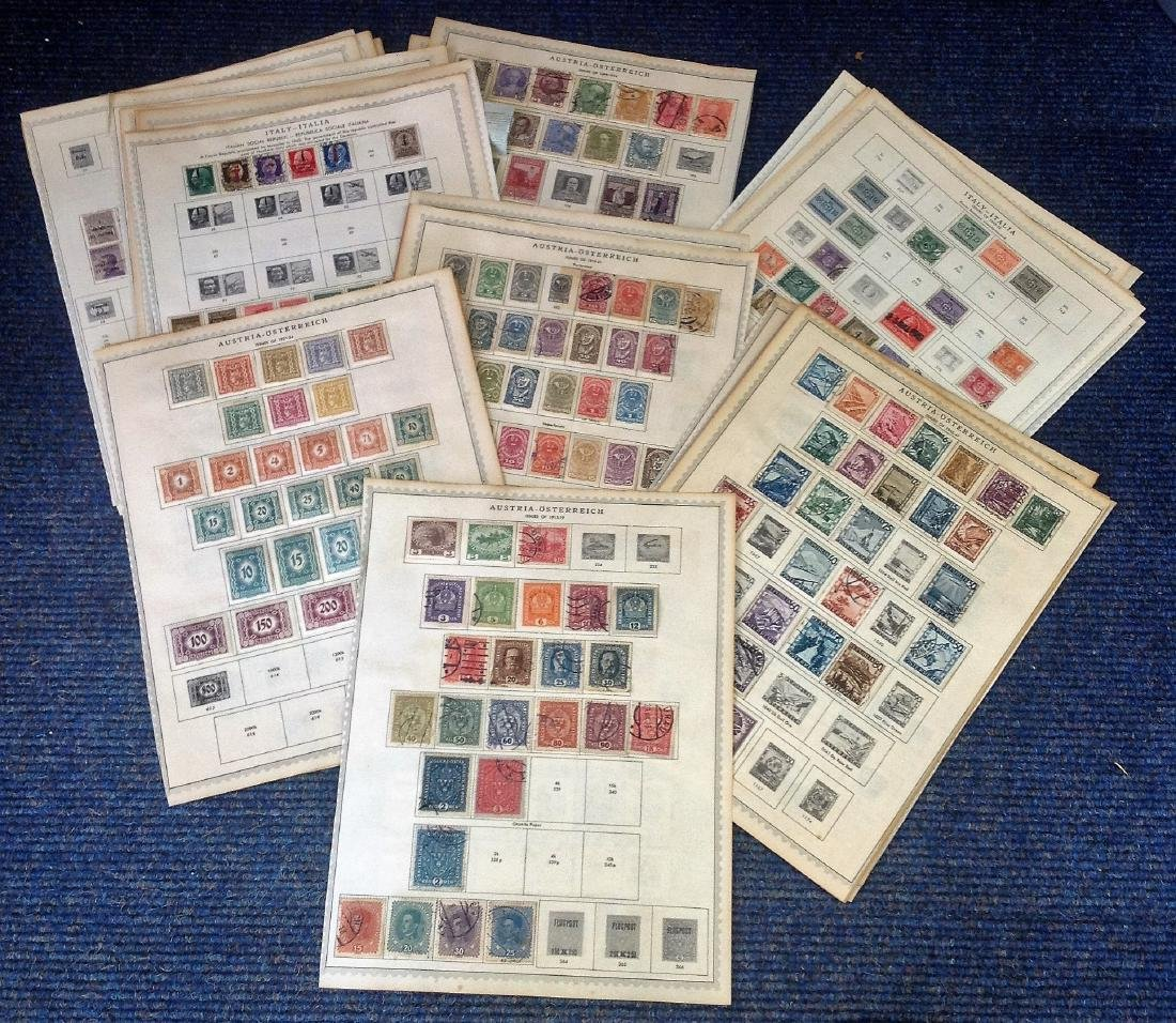 European stamp collection 39 sheets dating pre 1960