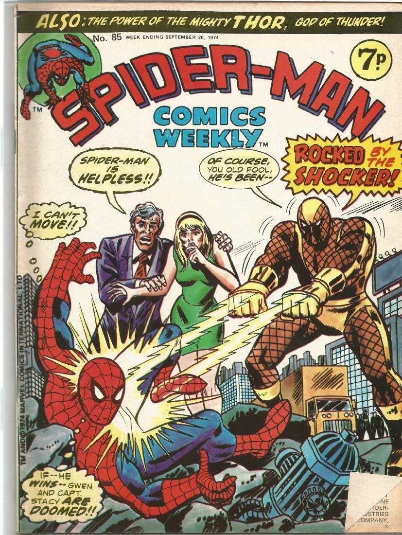 Marvel comic Spider-man comics weekly no85 week ending