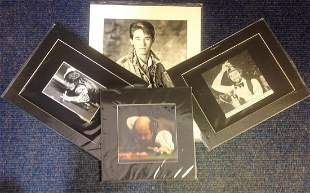 Snooker collection 4 mounted photos signed by John