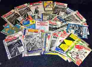 Speedway collection 58 British League programmes from