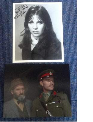 Two 10x8 photos signed by Julian Glover and the other