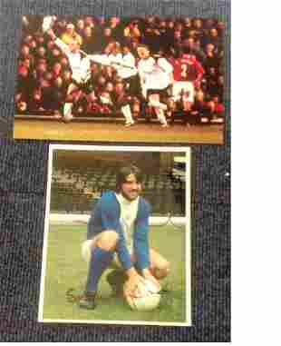 Football signed photo collection 2 photos One signed