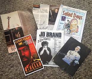 Comedy signed collection 6 items assorted flyers and