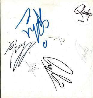 Quireboys signed 33rpm Record Sleeve Vinyl record