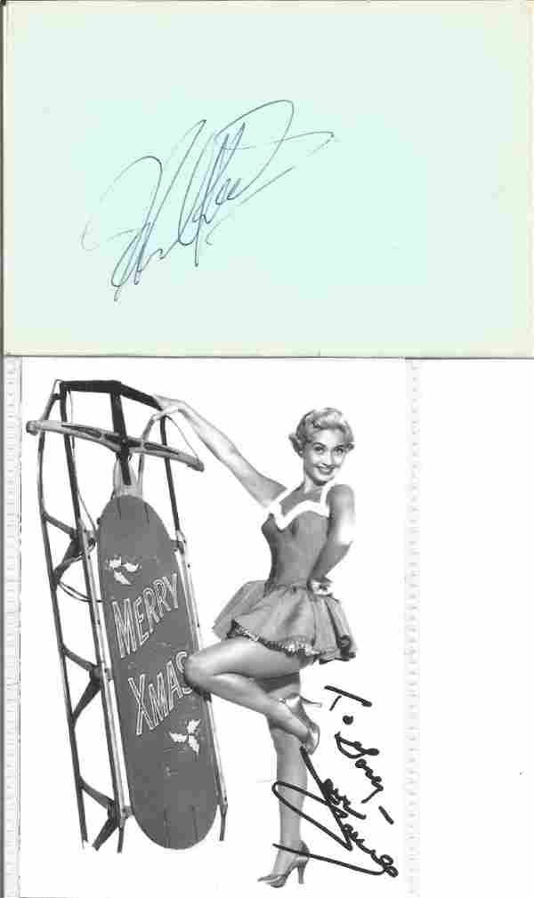 Howard Keel autograph album page and Jane Powell 6 x 4