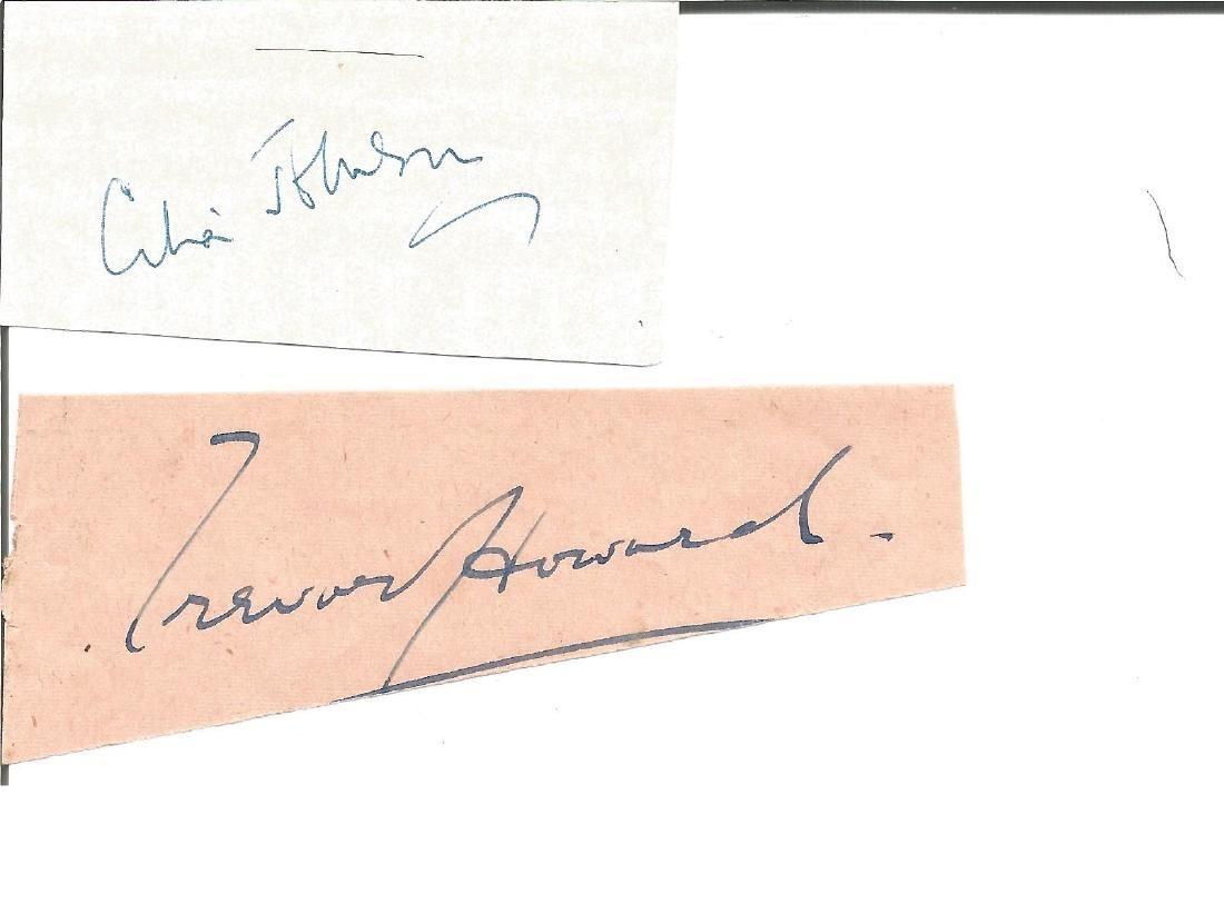 Trevor Howard and Celia Johnson small signature pieces