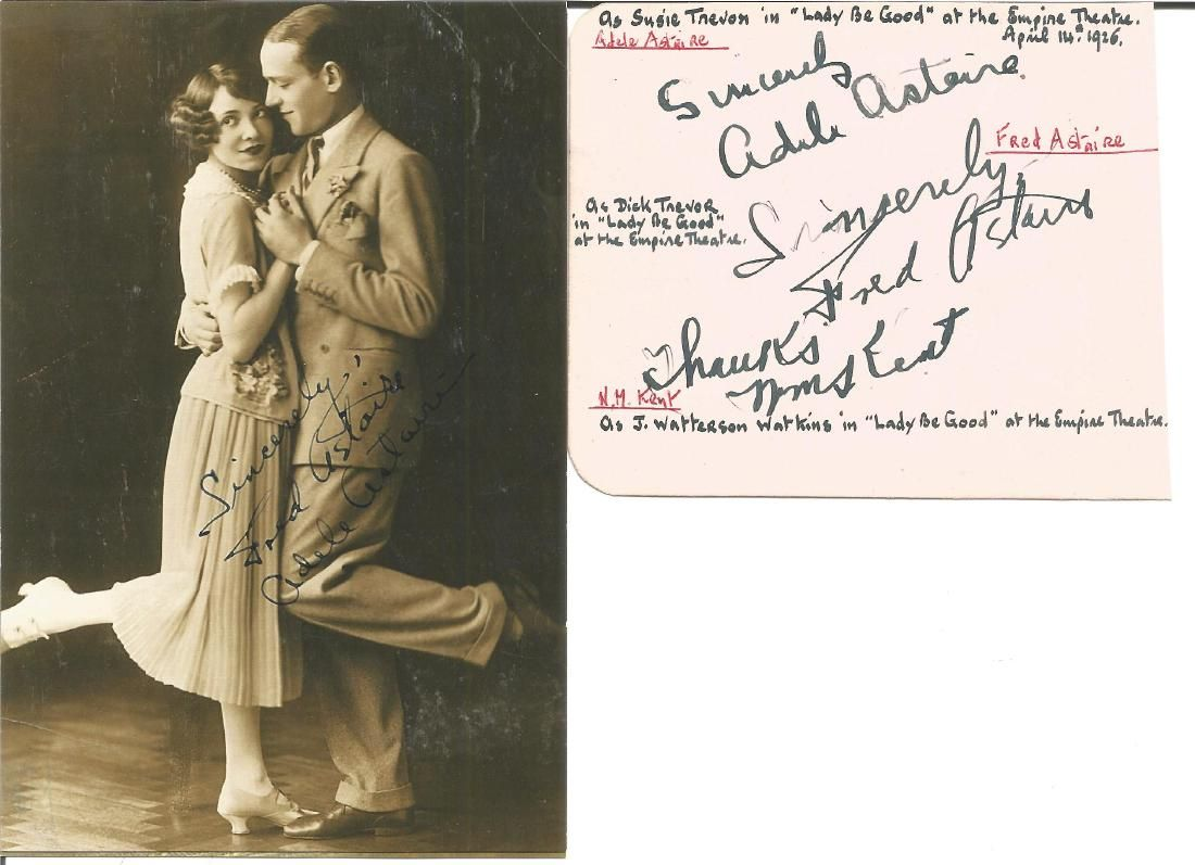 1926 Lady Be Good autograph album page signed by Fred