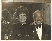 Count Basie To Jim Ella Fitzgerald signed 10 x 8 bw