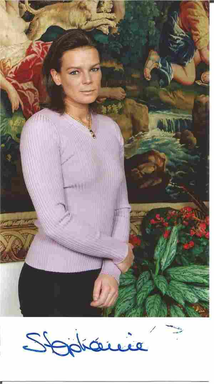 Princess Stephanie of Monaco signed 7 x 4 colour photo
