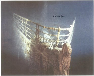 Titanic: 8x12 Inch Photo Of The Wreck Of RMS Titanic