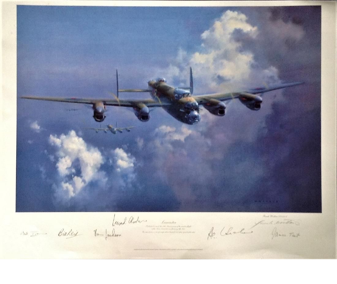 World War Two print 21x26 overall Lancaster by the