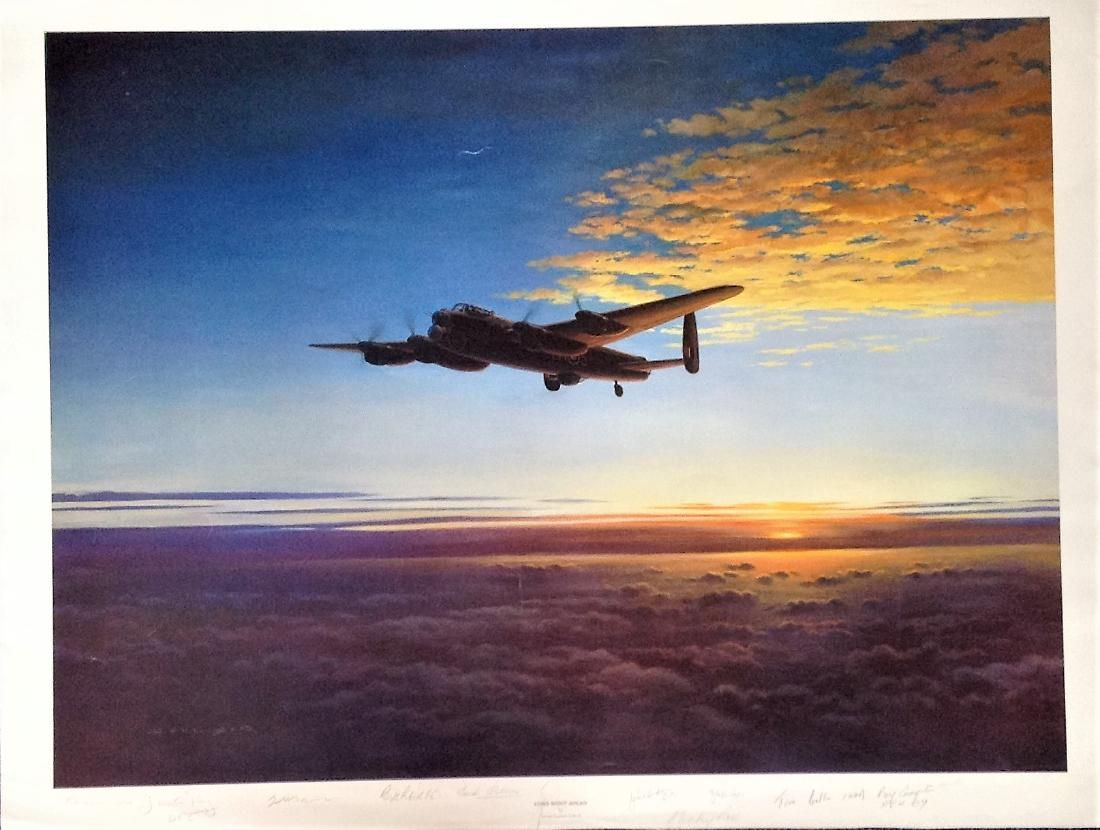 World War Two print 25x33 titled Long Night Ahead by
