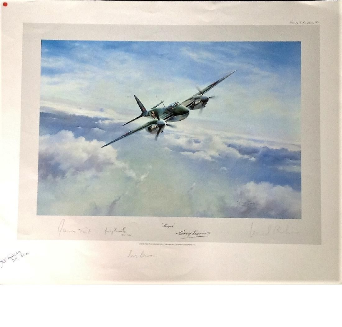World War Two Print 20x24 titled Mosquito by the artist