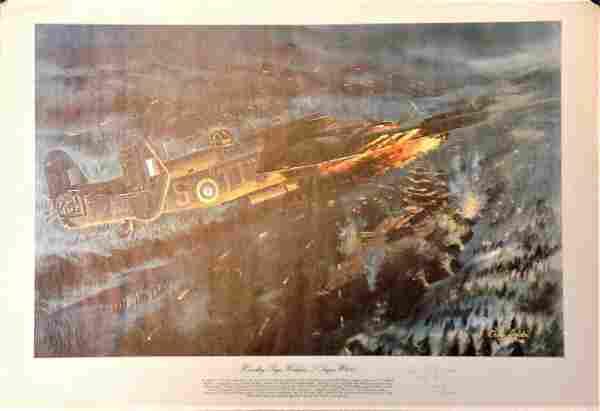World War Two 17x24 print titled Handley Page Halifax