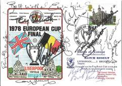 Football FDC 1978 European Cup Final Liverpool v Bruges