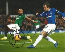 Bernard Signed Everton 8x10 Photo Good Condition All