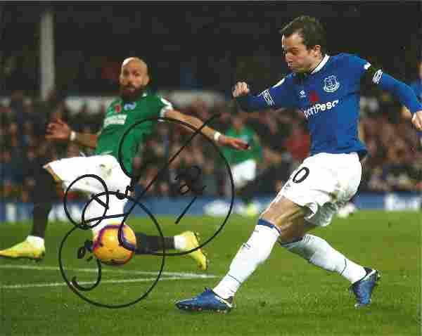 Bernard Signed Everton 8x10 Photo. Good Condition. All