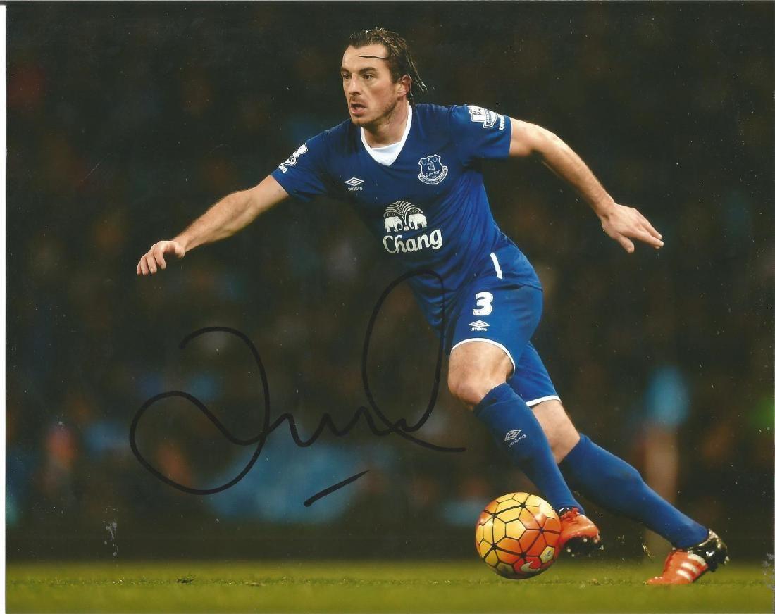 Leighton Baines Signed Everton 8x10 Photo. Good