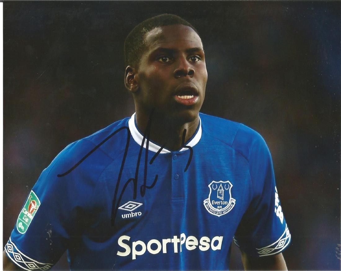 Kurt Zouma Signed Everton 8x10 Photo. Good Condition.