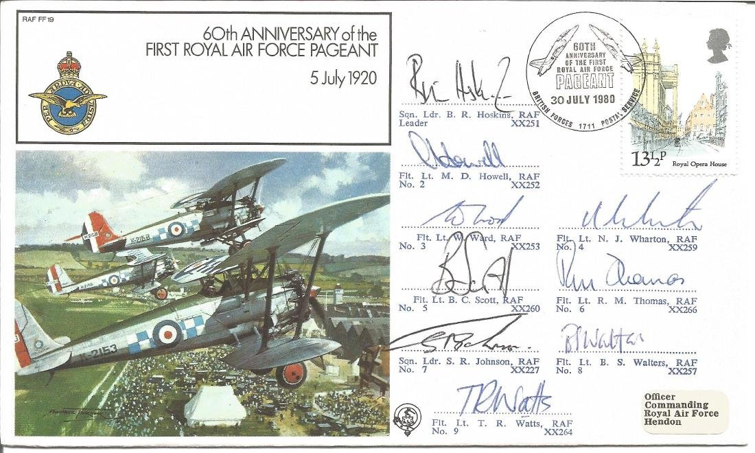 Multiple signed cover RAF FF19 60th Anniversary of the