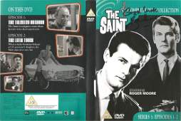 Roger Moore signed DVD insert of The Saint - Series 1 -