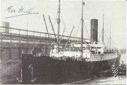 RMS Titanic signed autograph postcard by Survivor Eva