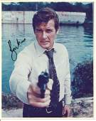 Roger Moore James Bond signed authentic 10x8 colour