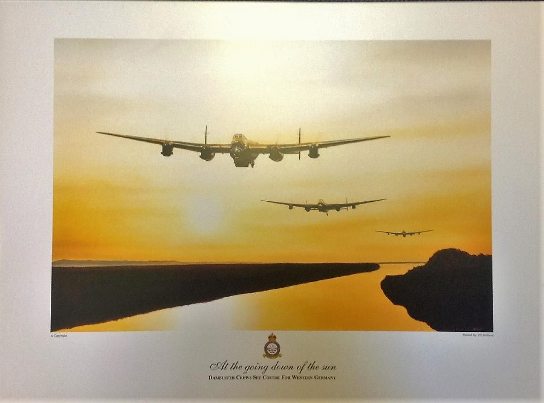Dambuster World War Two print 17x23 approx titled At
