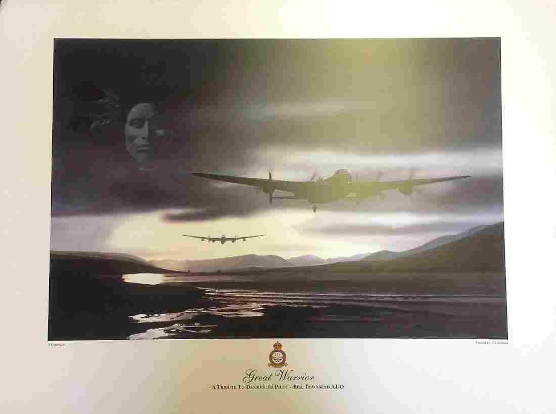Dambuster World War Two print 17x23 approx titled Great