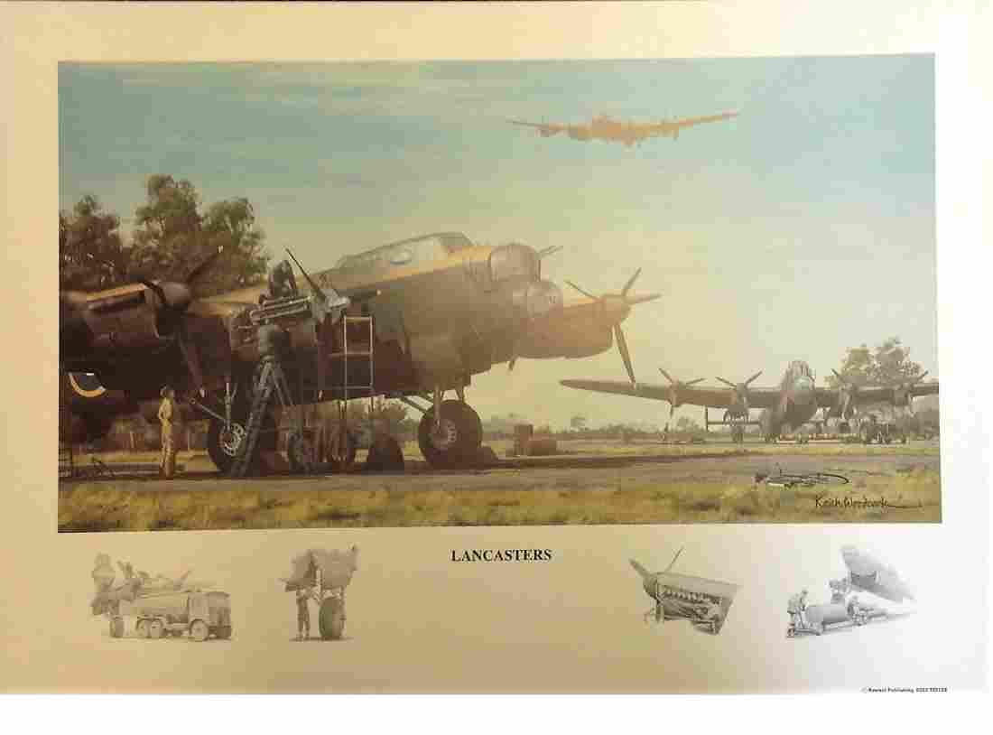 World War Two print 12x16 approx titled Lancaster